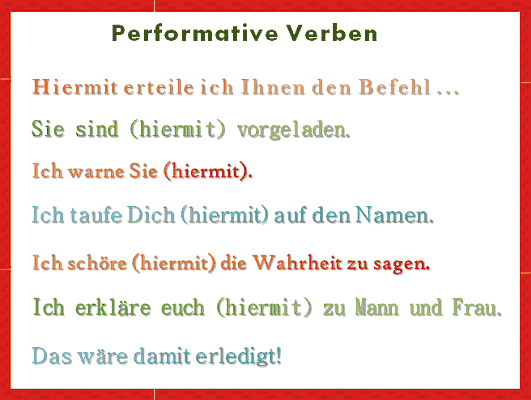 Performative Verben